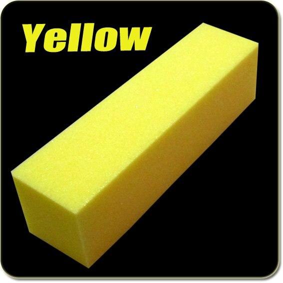 10 шт. желтый Уход за ногтями буферный Шинер блоки для шлифовки акриловый Инструмент