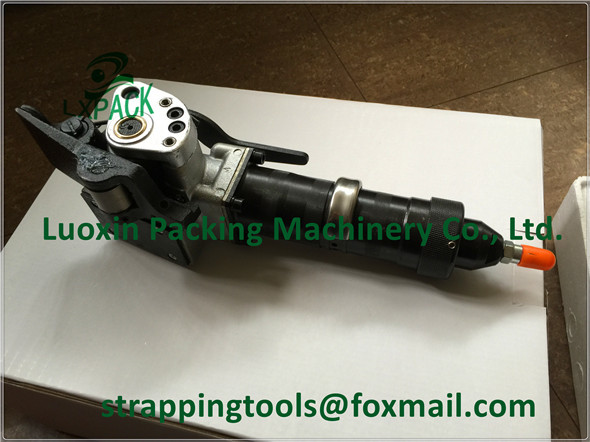 LX-PACK Brand Semi-automatic strapping tool for the pneumatic tensioning Pneumatic pusher type tensioner only one tensioner lx pack brand lowest factory price pneumatic pusher type combination steel strapping tool pneumatic steel strapping tool