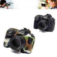 Buena cámara de vídeo para nikon d5100 d5200 cámara funda protectora de silicona caso de goma cubierta de la piel del cuerpo