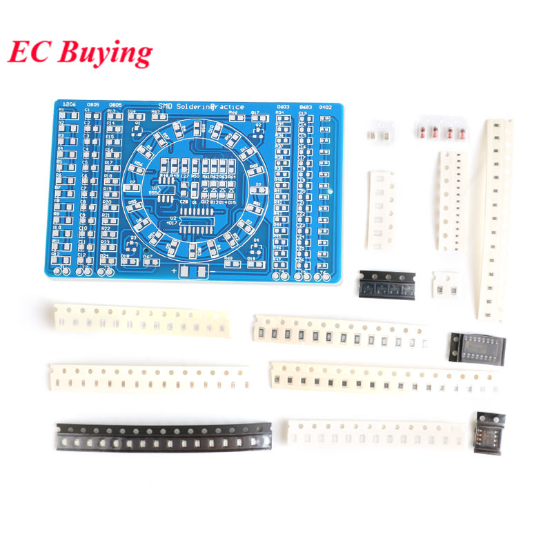 DIY SMT SMD Component Soldering Practice Board Running Water Light Kit DIY KIT for Self-Assembly Electronic Components(China)