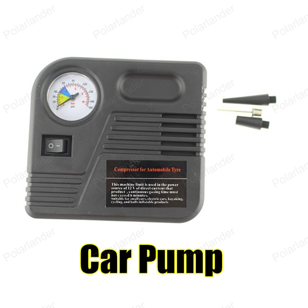2016 New Product Portable CarAir Pump Auto Electric Air Compressor Tire Inflator 12V 150PSI With Car Jump Starter Connector