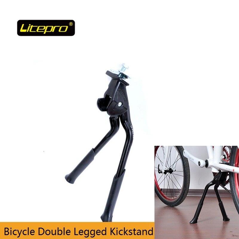 אופניים Kickstand Litepro 700c/16/20 אינץ אופניים מתקפלים מתכוונן Kickstand כפול רגל אופניים Stand עבור MTB מתקפל אופני כביש