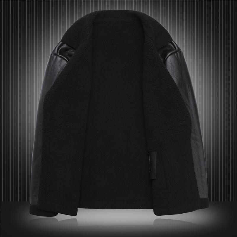 Los Piel Famoso Usa Estampado Chaqueta Negro Diseñador De Invierno Cuero Nuevo 2019 Marca Tigre Más Hombres Abrigos Oveja w4CqxIF4