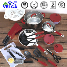 Hot Sale  24 Pieces Cooking Pots Frying Pan Hot Pot And Pans Cooking tools Cutlery Cookware Set