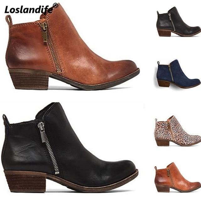 Kadın kış çizmeler bahar sonbahar ayakkabı kadın zapatos mujer sapato kız yarım çizmeler kare tıknaz düşük topuklu kauçuk patik