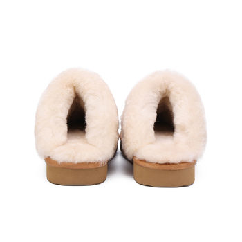 MBR FORCE Natural Fur Slippers Fashion Female Winter  Slippers Women Warm Indoor Slippers Quality Soft Wool Lady Home Shoes 3