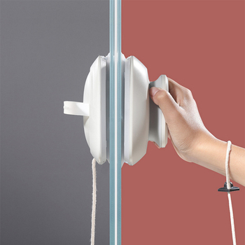 Double-sided Magnetic Glass Cleaner Wiper With Magnet 15-24mm Glass Rub