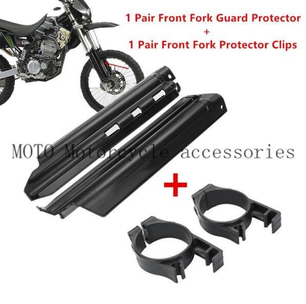 2016 Absorption Spillplate Board Front Fork Guide Clips Guard Slider Protector For Kawasaki KDX250 KDX200 KLX650 KLX250 KLX300R qj150 17a spillplate