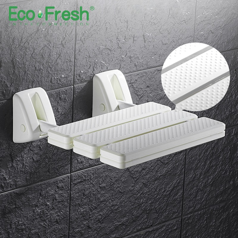 Alert Ecofresh Wall Mounted Shower Seat Bathroom Shower Folding Seat Folding Beach Bath Shower Stool Toilet Shower Chair Wall Mounted Shower Seats