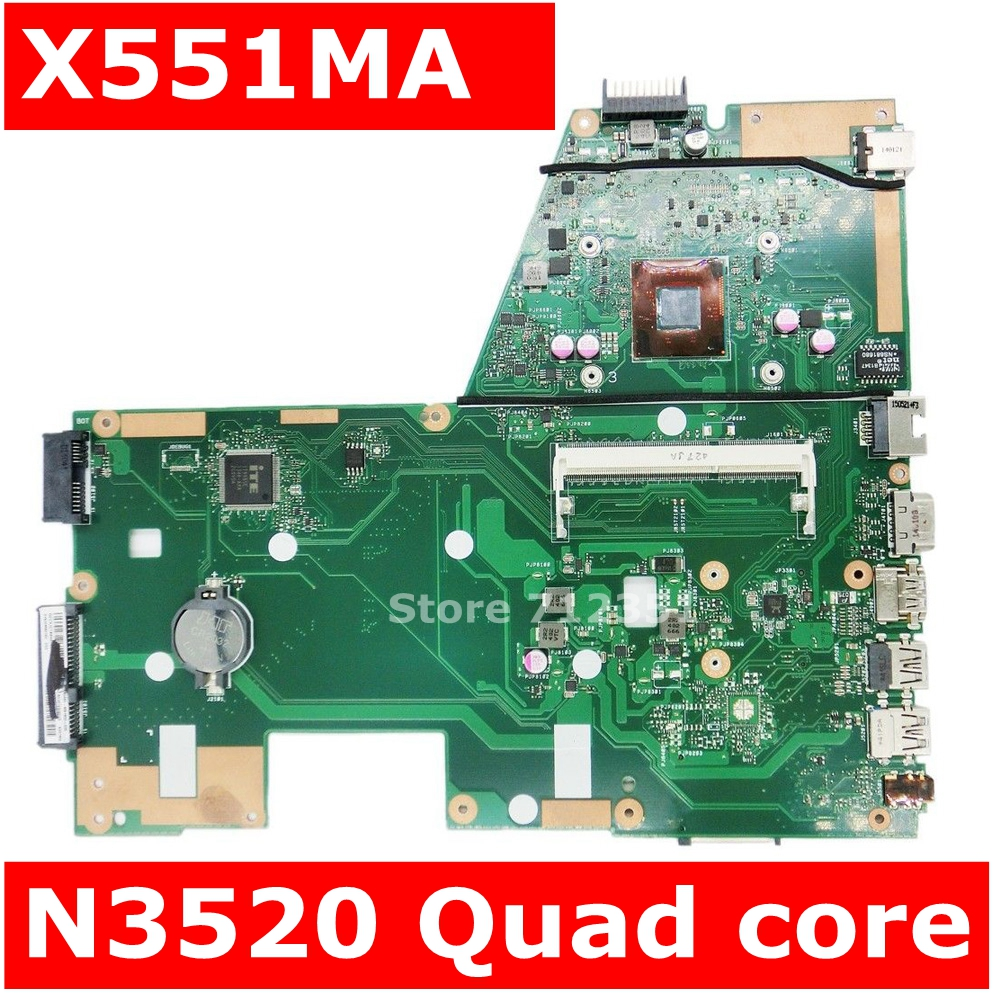 X551MA Motherboard N3520U REV2.0 For ASUS X551 X551M F551MA Laptop Motherboard X551MA Mainboard X551MA Motherboard 100% Tested