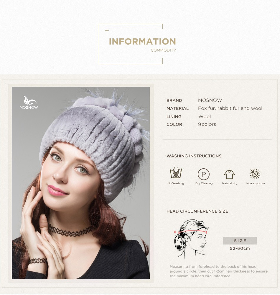 fur winter hats for women PCM003 (3)