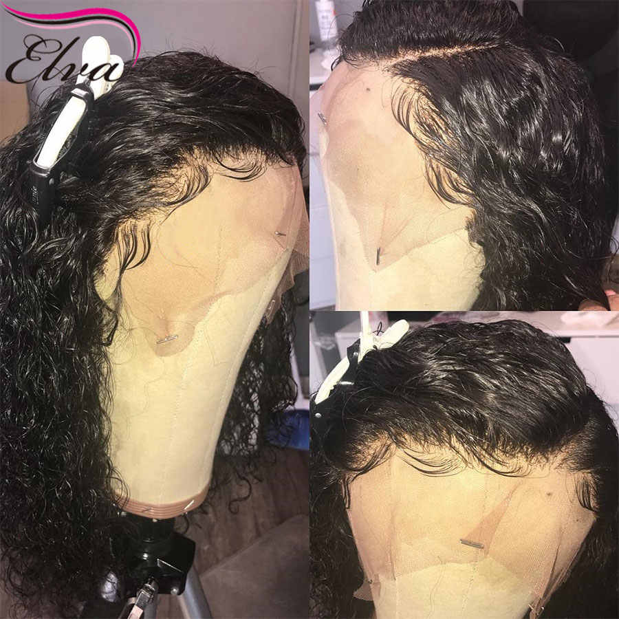 180% Density 360 Lace Frontal Wig Pre Plucked Curly Lace Front Human Hair Wigs Brazilian 360 Lace Front Wig Elva Remy Hair Wigs