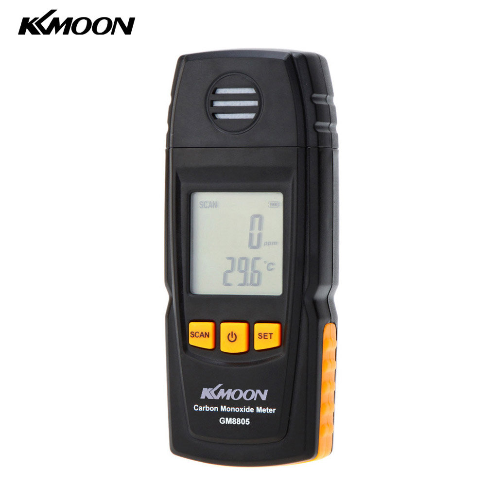 KKmoon Handheld Carbon Monoxide Meter with High Precision CO Gas Tester Monitor Detector Gauge 0-1000ppm GM8805 gm8805 digital co monitor carbon monoxide fire detector 0 1000ppm air gauge natural gas analyzer lcd handheld