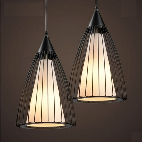Loft Style Creative Iron Cage LED Pendant Light Fixtures Vintage Industrial Lighting For Dining Room Fabric Hanging Lamp loft style creative iron cage pendant light fixtures vintage industrial lighting for dining room edison hanging lamp lamparas