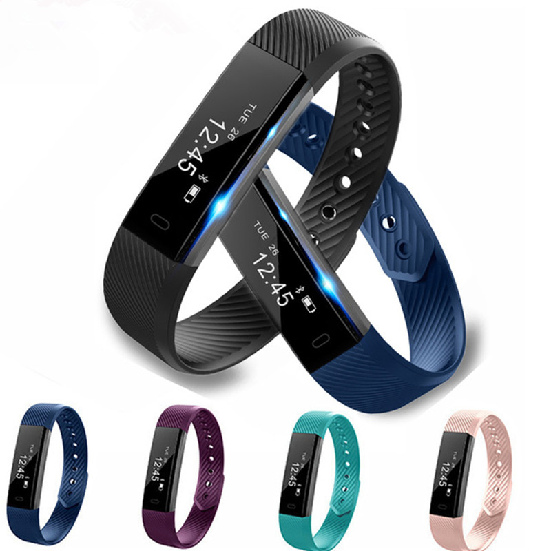 ID115 Smart Bracelet Sport Pedometer Fitness Tracker Sleep Monitor Wristband Bluetooth 4 0 Wterproot Smartband For