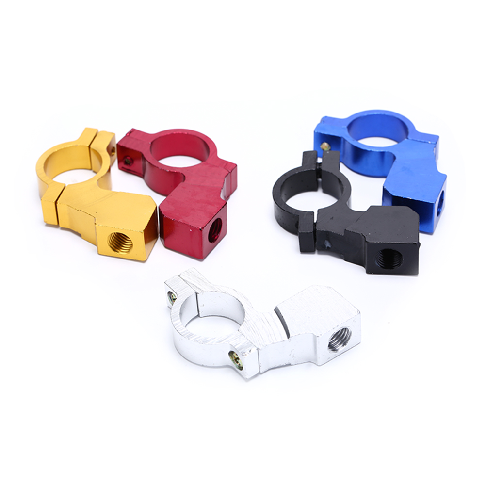Mirrors Clips Aluminum Motorcycle Handle Bar Clamp Mirror Mount Holder
