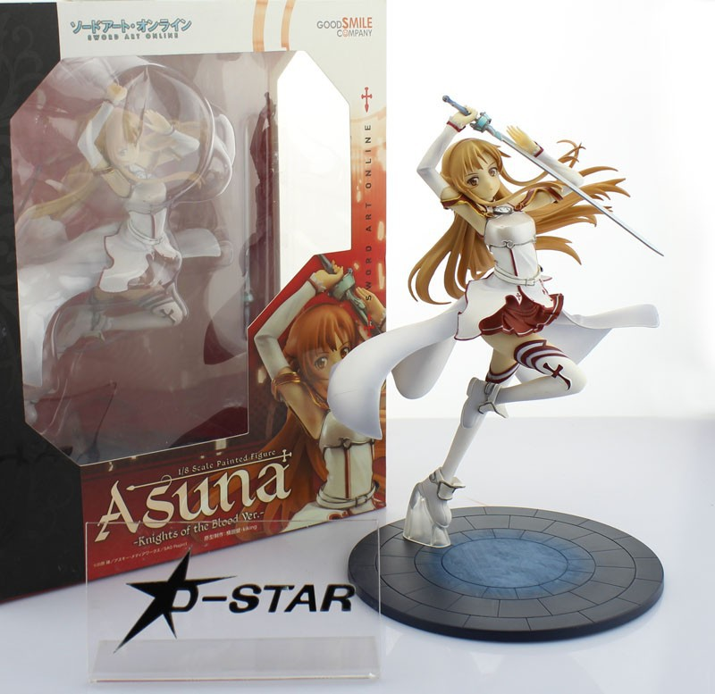 EMS Shipping 6pcs 9 Sword Art Online S.A.O Asuna Yuuki Knights of the Blood Ver. Boxed PVC Action Figure Collection Model Toy