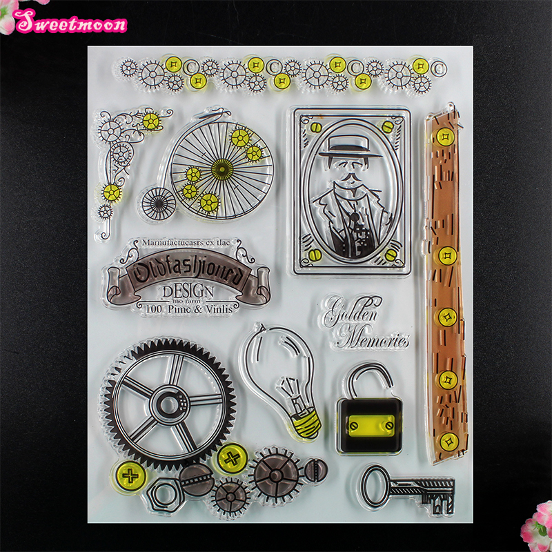 Gear design Scrapbook Clear Stamp photo cards account rubber stamp  Embossing Folder card Stamp thank you my friend you are the best scrapbook clear stamp photo cards account rubber stamp embossing folder card stamp