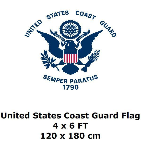 c1c2b2774b3 United States Coast Guard Flag 4` x 6` FT 100D Polyester Large USA ...