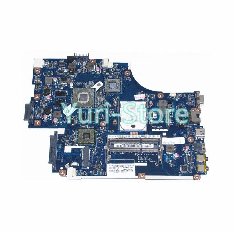 NOKOTION NEW75 LA-5911P mère D'ordinateur Portable Pour acer aspire 5552G MBWVF02001 MB. WVF02.001 Radeon HD 6650 M 1 GB DDR3