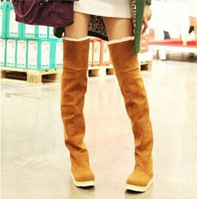 gris De Nuevos Para Fondo Modelos Botines Moda 2015 Largos Rodilla Negro marrón Tubo En Mujer Dama Invierno Nieve amarillo Botas Zapatos HtS57qwp