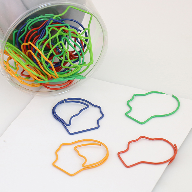 30 Pcs/Bag Small Foot Head Hand Bookmark Clip Office Stationery Lovely Feet Shape Metal Bookmarks Body Paper Clip H0068
