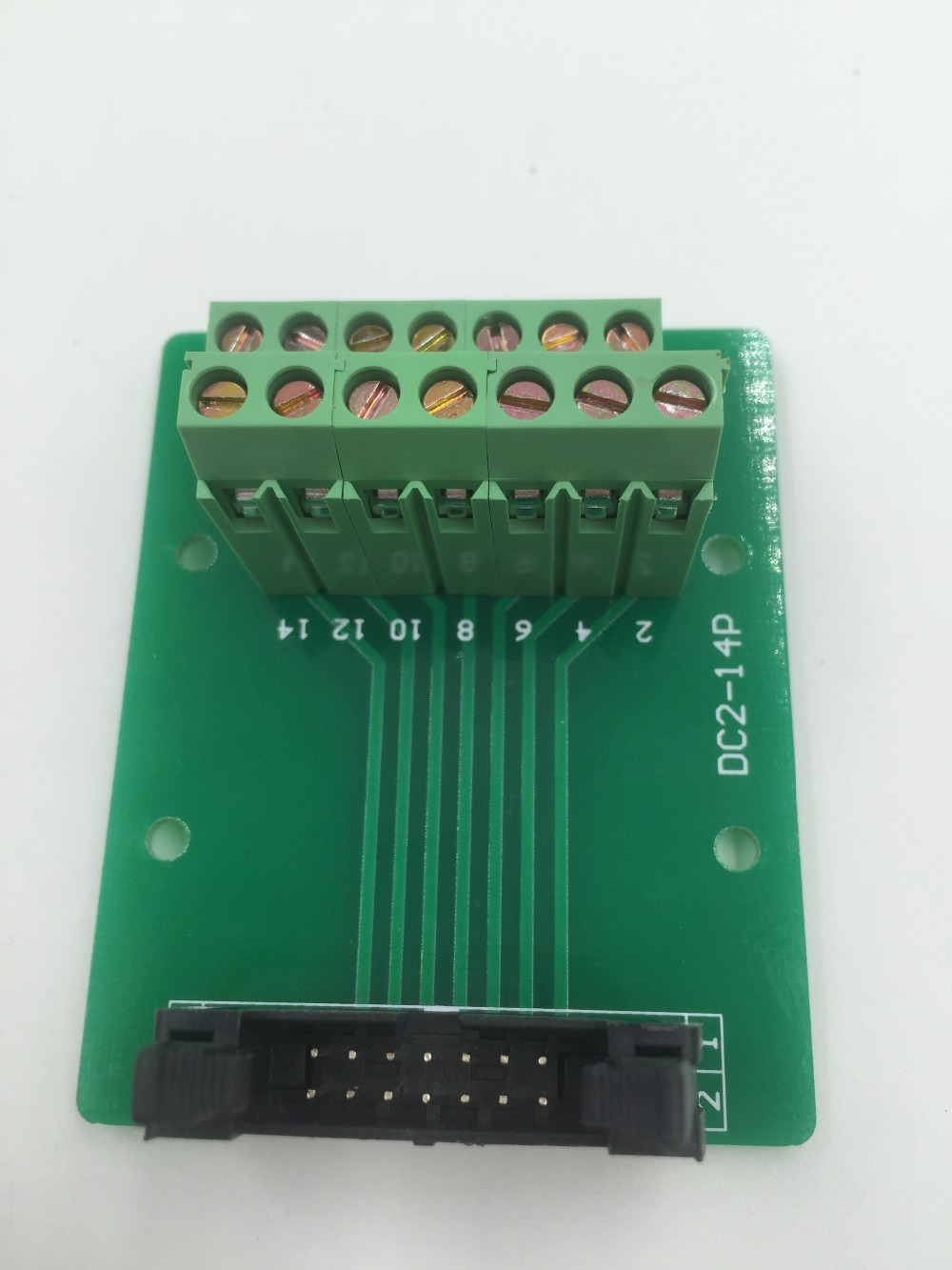 Hot Factory Direct Wholesale IDC14 male plug 14pin port header Terminal Breakout PCB Board block 2 row screw