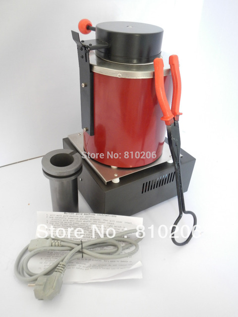 Jewelry Tools220 Voltage and 2KG Capacity Gold Electric Melting Furnaces with 1pc Graphite Crucible & Plier, melting furnace