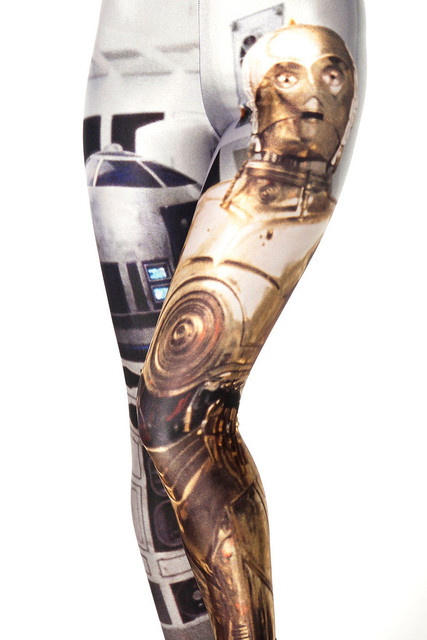 Fashion 3106  sexy girl women Star Wars R2 D2 robot clone 3D prints Polyester elastic fitness Leggings Pants