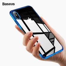 Baseus Temizle Şeffaf iphone için kılıf Xs Max Xr Xsmax Lüks Sert PC Kaplama Koruyucu Coque iPhonexs Için arka kapak Fundas