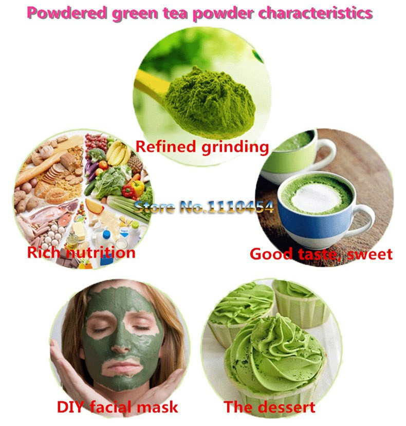 C-TS042 Sale! 80g Natural Organic Matcha Green Tea Powder slimming tea weight loss free shipping