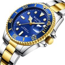 200m Waterproof Men Automatic Watches Classic Blue Green Dial Mechanical Watch Man Stainless Steel Diver Wrist Watch все цены