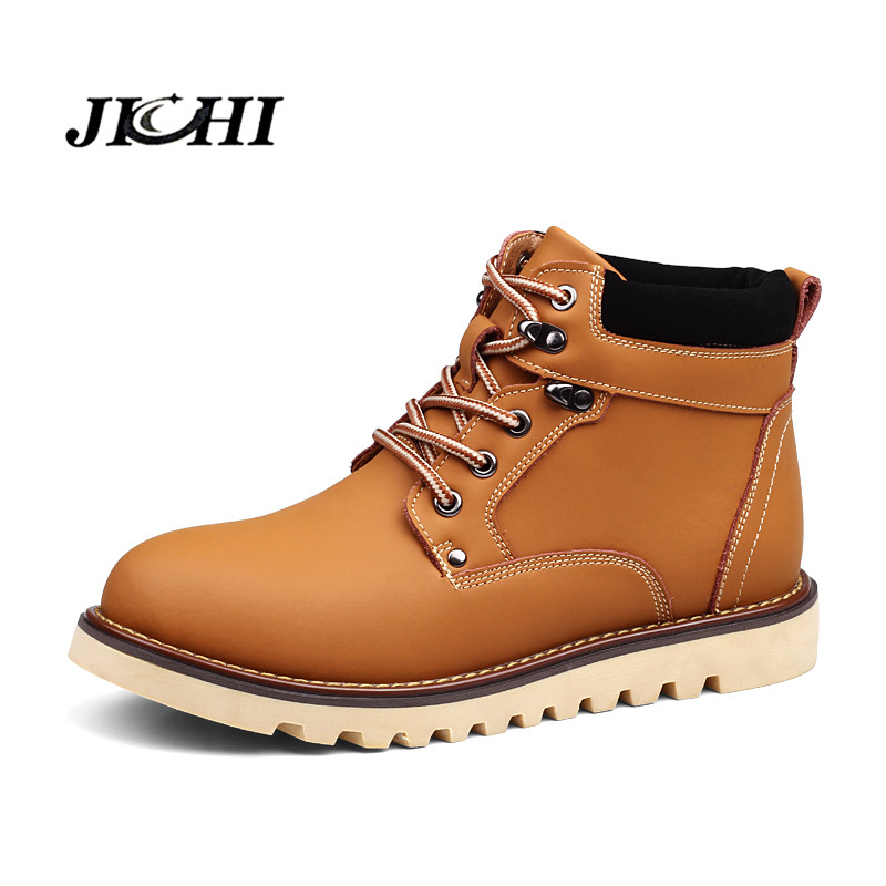 2018 Fashion Leather Men Boots Spring Autumn And Winter Men Shoes Ankle Boot Men's Snow Boot Shoes With Fur Big Size 38-46 недорго, оригинальная цена