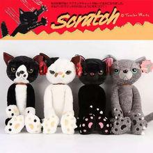 40/60 cm Gatos rellenos Peluches Japón Scratch Kitten Sharp Paw Neko Juguetes blandos para niños Regalos para niños
