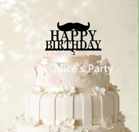 Brilliant Nieuwe Prachtige Zwarte Baard Gelukkige Cake Toppers Man Funny Birthday Cards Online Elaedamsfinfo