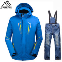 SAENSHING Snowboarding Suits Men Winter Ski Suit Waterproof Ski Jacket Snowboard Pant Thermal Breathable Outdoor Ski