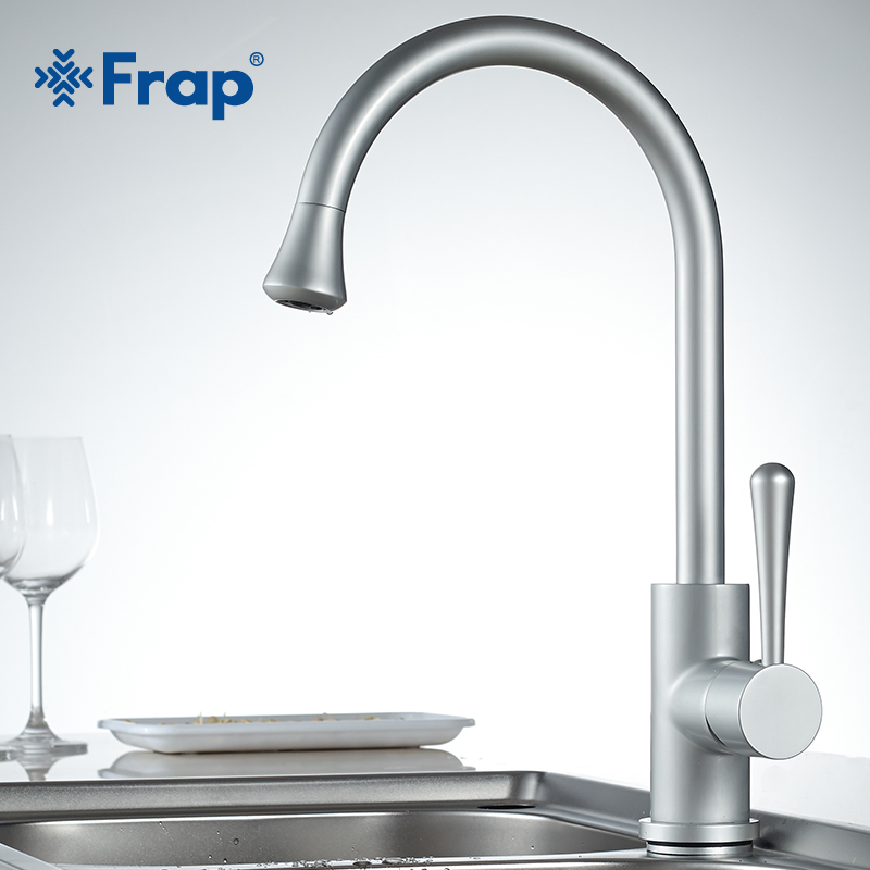 Frap Classic Kitchen Mixer Hot and Cold Water Classic Space Aluminum Basin Faucet Anodizing Swivel 360 Degree Rotation F4152 купить в Москве 2019