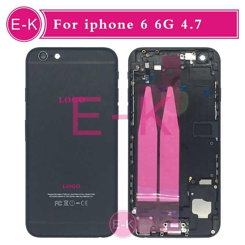 Blavk high quality Complete Battery Back Housing Cover with Flex Cable Full Assembly Replacement For iPhone