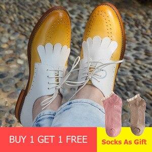 Image 2 - נשים נעליים שטוחות עור אמיתי בוהן עגול דירות פלטפורמת נעלי גבירותיי קיץ אישה גלדיאטור שטוח גומי sole נעלי 2020