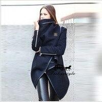2018 High Archives Brand Temperament Woolen Overcoat Windbreaker Loose Coat Woman