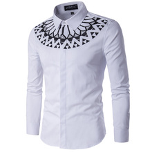 Males Shirt Lengthy Sleeve Males's Style Individual  Shirts Informal Male Slim Match Strong Line Ornamental Buttons Chemise Mens Camisas Gown