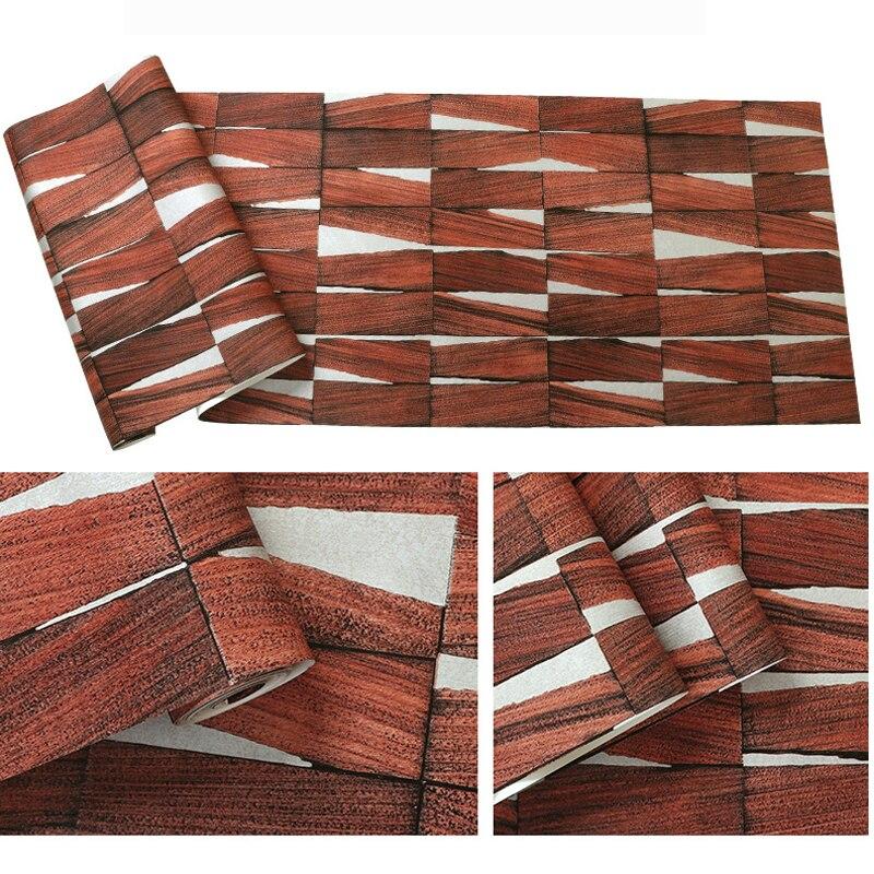 Купить с кэшбэком Nordic Vintage Rustic 3D Wood Wallpapers Home Decor Papel Murals Wall Paper 3D Roll for Bedroom Tea House Walls vinilos pared