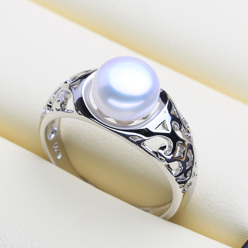 FENASY 925 Sterling Silver Ring Natural Freshwater Pearl Rings For Women Party Pearl Jewelry Bohemian Cloud Shape ring New