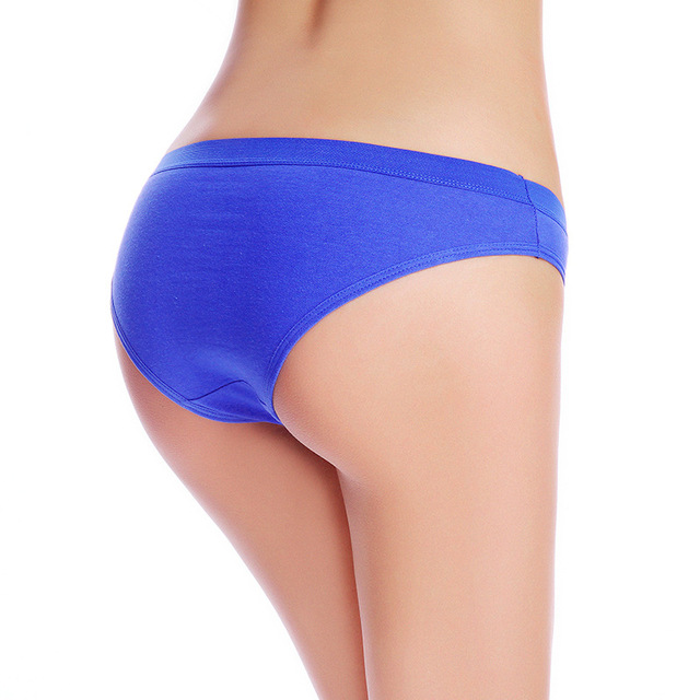 New Arrival Solid Color Cotton Women Briefs Panties