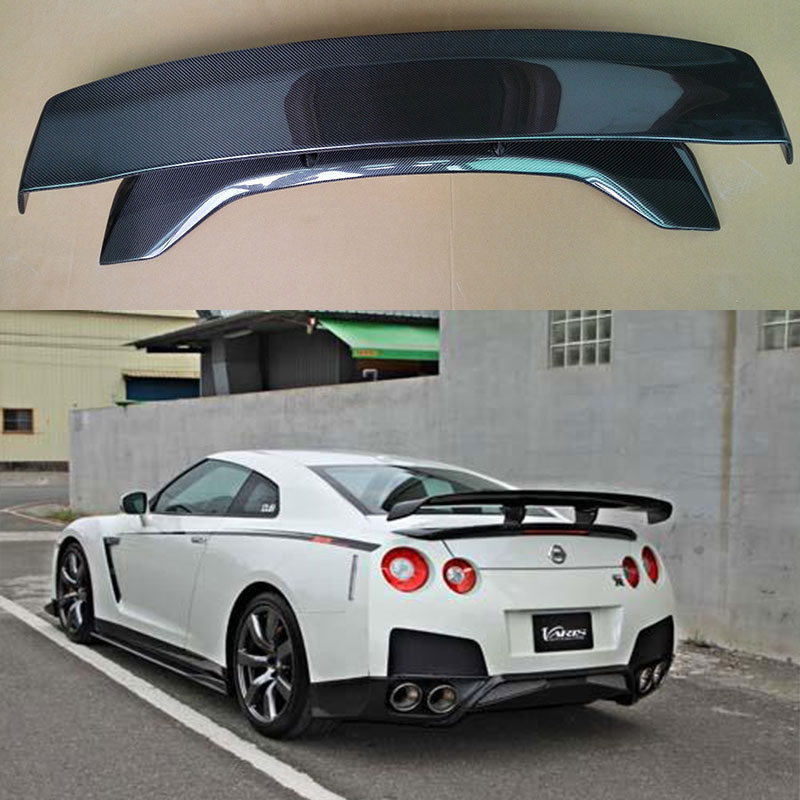 v hyper narrow style carbon fiber gt spoiler for nissan gt. Black Bedroom Furniture Sets. Home Design Ideas