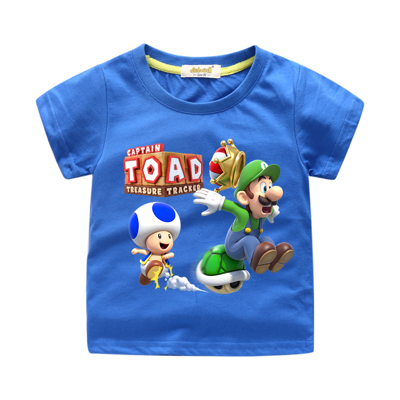 Kids Casual White Tshirt Boy Cartoon Captain Toad T-shirt Girls Tee Tops Clothing Children Shorts T Shirt Mario Clothes WJ118Kids Casual White Tshirt Boy Cartoon Captain Toad T-shirt Girls Tee Tops Clothing Children Shorts T Shirt Mario Clothes WJ118