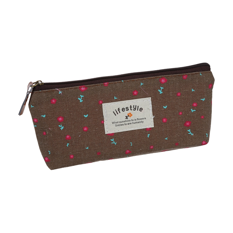 Pastoral Canvas Pen Bag Brand New Different Colors set of 4 in Pencil Bags from Office School Supplies