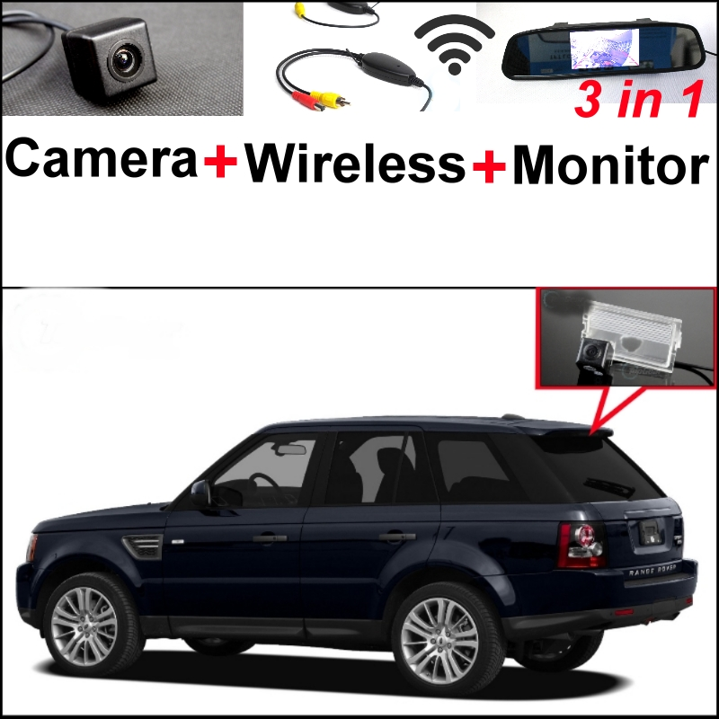 3in1 Special Camera + Wireless Receiver + Mirror Monitor Easy DIY Parking System For Land For Rover Range Rover Sport 2005~2012 wireless pager system 433 92mhz wireless restaurant table buzzer with monitor and watch receiver 3 display 42 call button