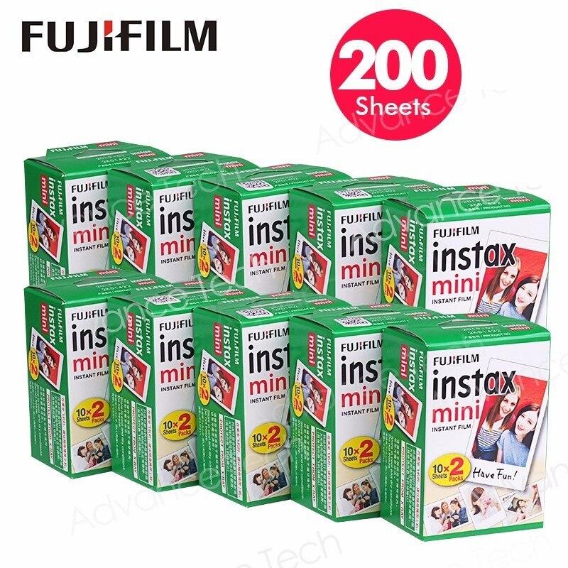 200 Feuilles Fujifilm Film Appliquer Instax Mini7s 8 9 25 90 70 appareil photo Instantané sp-1 sp-2 300 Fuji Film Instantané Photos