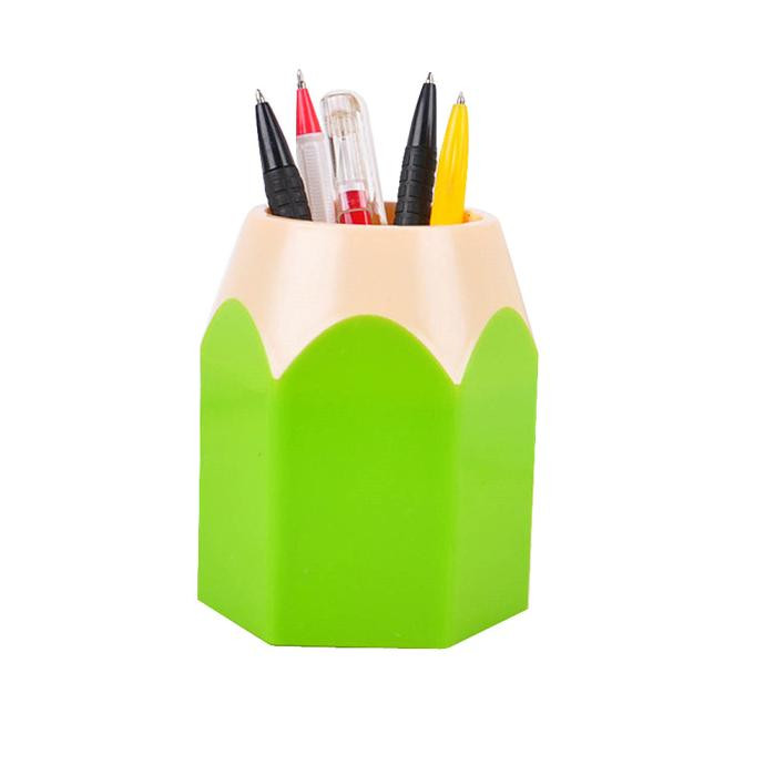 Office Desktop Pencil Pen Pot Stationery Space-Saving Plastic Quality Home Storage Tools Organizers Makeup Brush Vase Holder